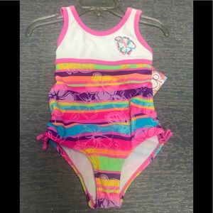 O.P. Size 4 girls 1 Pc swimsuit UPF 50+ NWT